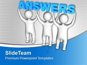 Three Men Join Forces To Lift Words Answers PowerPoint Templates PPT T