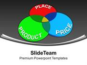 Three Principles Of Marketing Product Price Place PowerPoint Templates