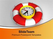 Time To Be Safe Clock With Safeguard PowerPoint Templates PPT Themes A