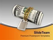 US Dollars Chained And Locked Economy PowerPoint Templates PPT Themes