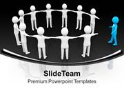 Man Joining The Team Leadership PowerPoint Templates PPT Themes And Gr