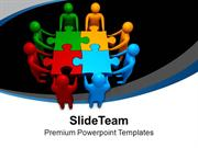 Teamwork To Combine Business Puzzles PowerPoint Templates PPT Themes A
