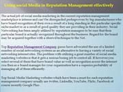 Using social Media in Reputation Management effectively