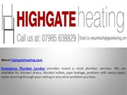 Emergency Plumber London- Highgate Heating