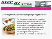 Lose Weight with 2 Simple Tweaks | Simple weight loss Tips
