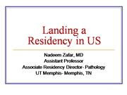 Obtaining A Medical Residency in USA