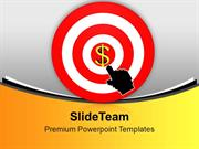 Business Target Achieved Dollar Money PowerPoint Templates PPT Themes