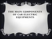 The Main Components of Car Electric Equipments