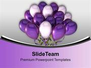 Illustration Of Bunch Of Balloons Celebration PowerPoint Templates PPT