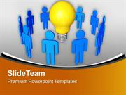 Innovative Ideas Of Team Members Business PowerPoint Templates PPT The