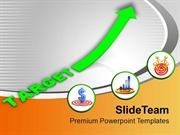 Arrow Showing Growth In Profit And Sales Targets PowerPoint Templates