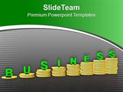 Coin Stacks Showing Business Growth PowerPoint Templates PPT Themes An