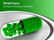 Green Capsule With Solutions PowerPoint Templates PPT Themes And Graph