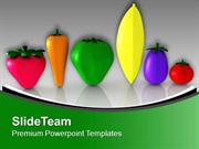 Veggies To Show Health Theme PowerPoint Templates PPT Themes And Graph