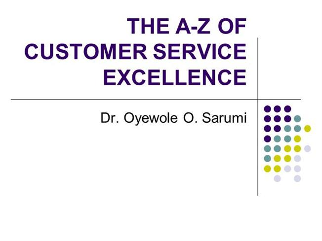 THE A-Z of CUSTOMER SERVICE EXCELLENCE |authorSTREAM