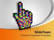 Computer Cursor Technology PowerPoint Templates PPT Themes And Graphic