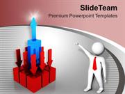 Fall And Rise In Business PowerPoint Templates PPT Themes And Graphics