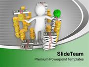 Money Saving And Financial Growth In Business PowerPoint Templates PPT