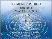 Water use - 13th-17th May 2013