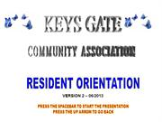 Keys Gate Orientation Show 2003