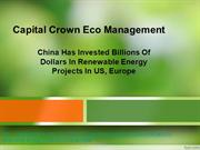 Capital Crown Eco Management - China's Renewable Energy