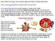 Send Rakhi to India special with Rakhis & Rakhi Gifts delivered India