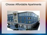 Choose Affordable Apartments