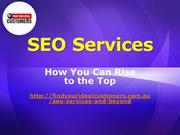 SEO Services- How you can rise to the top