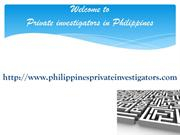 Private investigators in Philippines - private investigation services