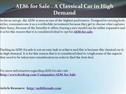 AE86 for Sale - A Classical Car in High Demand