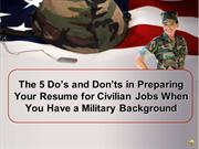 Resume Writing When you have a Military Background