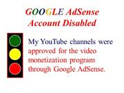 Google AdSense Account Disabled