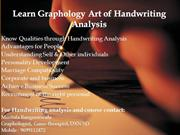 Learn Graphology Art of Handwriting Analysis