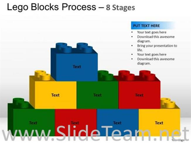 Lego blocks for business targets with 8 staged powerpoint diagram related powerpoint templates ccuart Image collections