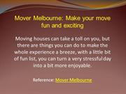 Mover Melbourne: Make your move fun and exciting