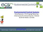 ECS - Canada's Choice for Chemical Audits, Silver Recovery, Film Purgi