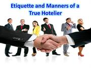 Etiquette and Manners of a True Hoteliar