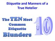 The TEN Most Common Etiquette Blunders