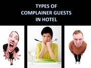 Types of Complainer Guests in Hotel