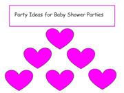 Party Ideas for Baby Shower Parties