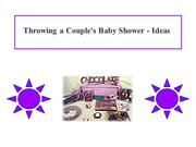 Throwing a Couple's Baby Shower - Ideas