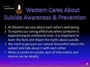 Western Cares About Suicide Awareness & Prevention with narration