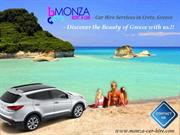 Discover Greece with Monza Car Hire in Crete, Greece