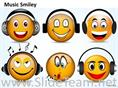 6 Musical Smiley With Cute Expression