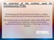 Method used for manufacturing PCB