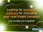 Transport software for managing your road freight transport?