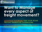 Logistics Software - Want to Manage every aspect of freight movement?