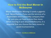 How to find the Best Mover in Melbourne