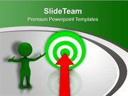 Business Men Achieved Business Target PowerPoint Templates PPT Themes