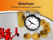 Business Men Running To Achieve Target PowerPoint Templates PPT Themes
